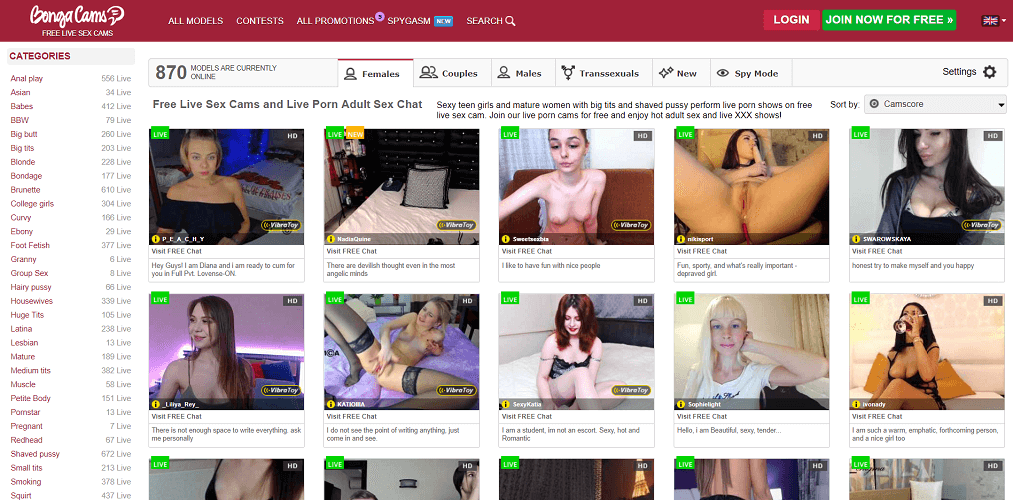 just like livejasmin - bongacams
